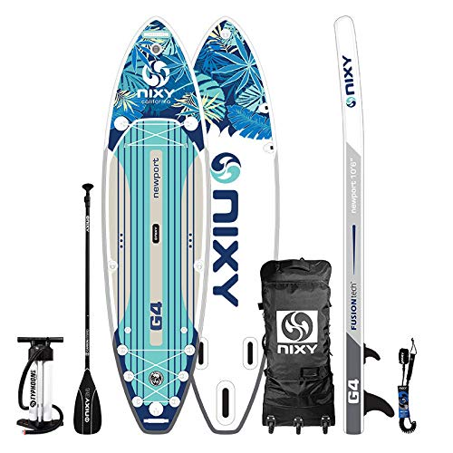 """NIXY Newport Paddle Board All Around Inflatable SUP 10'6' x 33"""" x..."""