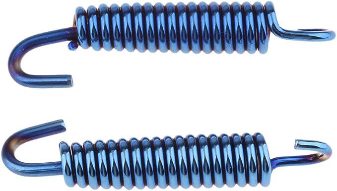 1 Paar Auspuffrohrfedern Länge Auspuff Rohr Auspuff Feder Auspuff Rohr Schalldämpfer Frühlings Haken Blau Auto