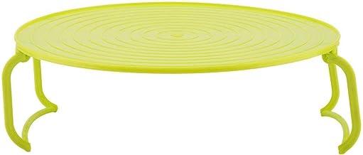 Multifuncional De Plástico Estufa De Horno De Microondas Calefacción En Vaporera En Rack Estante Bandeja De Cocina Estante Plegable Bandeja De Alimentos Herramienta De la Cocina(Verde)