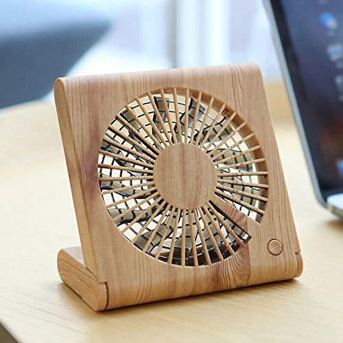 Hunpta@ - Ventilador de Mesa (USB, silencioso, Ideal para el Escritorio), Beige