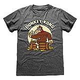 Super Mario Donkey Kong Camiseta para hombre Gris Jaspeado L | S-XXL, Switch con cuello redondo de la camiseta gráfica, Idea del regalo de cumpleaños para los individuos, para el hogar o la gimnasia