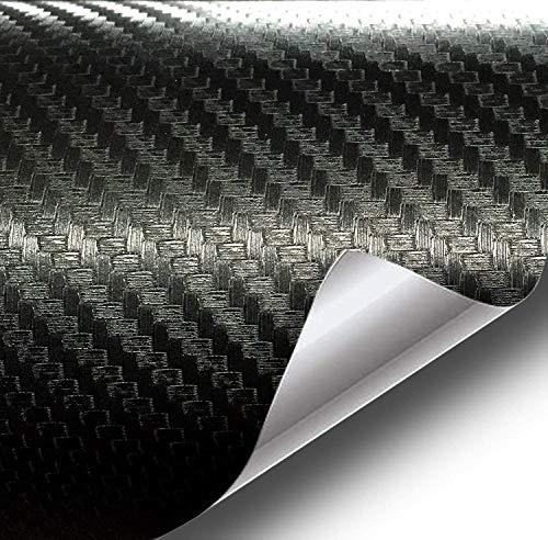 VViViD XPO Black Carbon Fiber Car Wrap Vinyl Roll with Air Release Technology (3ft x 5ft)