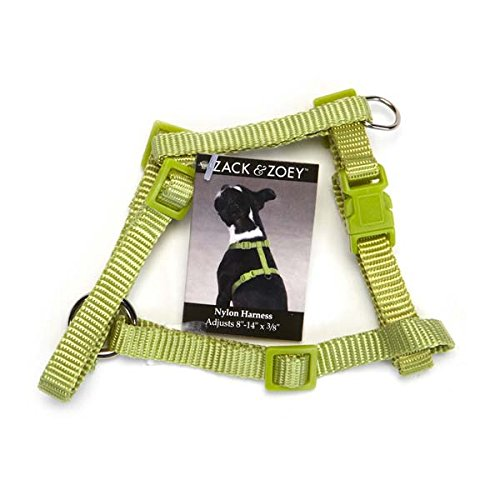 Zack /& Zoey US2395 14 16 ⅝ Nylon Dog Harness with Nickel-Plated D-Ring Bluebird