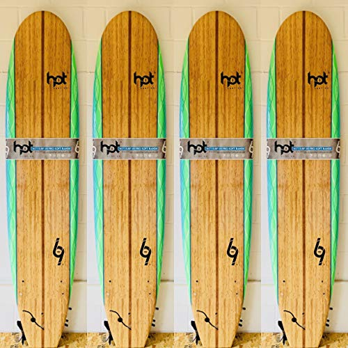 Hot surf 69 8″0 ft Soft board Beginners Surfboard Foam Mini Mal inc leash wax...