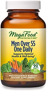 MegaFood, Men Over 55 One Daily, Supports Optimal Health and Wellbeing, Multivitamin and Mineral Dietary Supplement, Veget...
