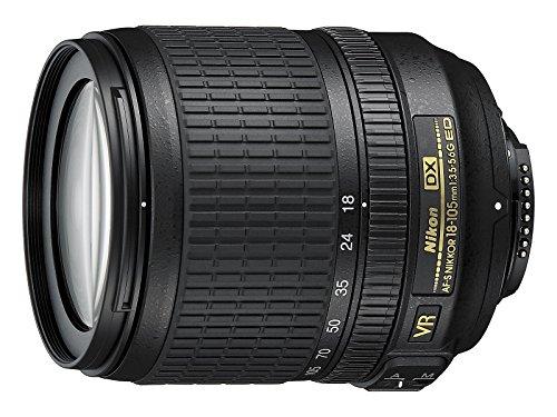 Nikon Nikkor Obiettivo AF-S DX 18-105 mm, f/3.5-5.6G ED VR, Nero [Versione EU] (Ricondizionato)