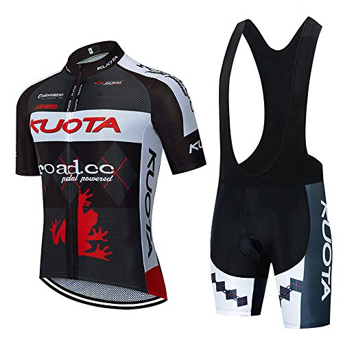 VFGSB Jerseys de Ciclismo para Hombres Mangas Cortas Ropa de Bicicleta Transpirable 5D Gel Pad Shorts Trajes de Ciclismo
