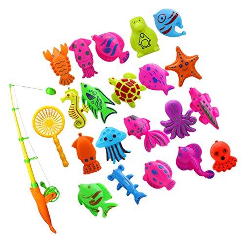 Kinder Baby Badespaß Spiel Fisch Modell Mini Angeln Spielzeug Badespielzeug - 22 Stück