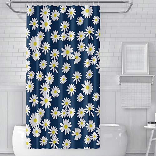 AIHUAW Classical Daisy Flower Shower Curtain Bathroom Decor Stall 48W x 72L Inches Waterproof Reinforced Buttonholes Shower Curtain