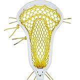 StringKing Women's Mark 2 Midfield Lacrosse Head Strung with Women's Type 4 Lacrosse Mesh (White/Yellow)