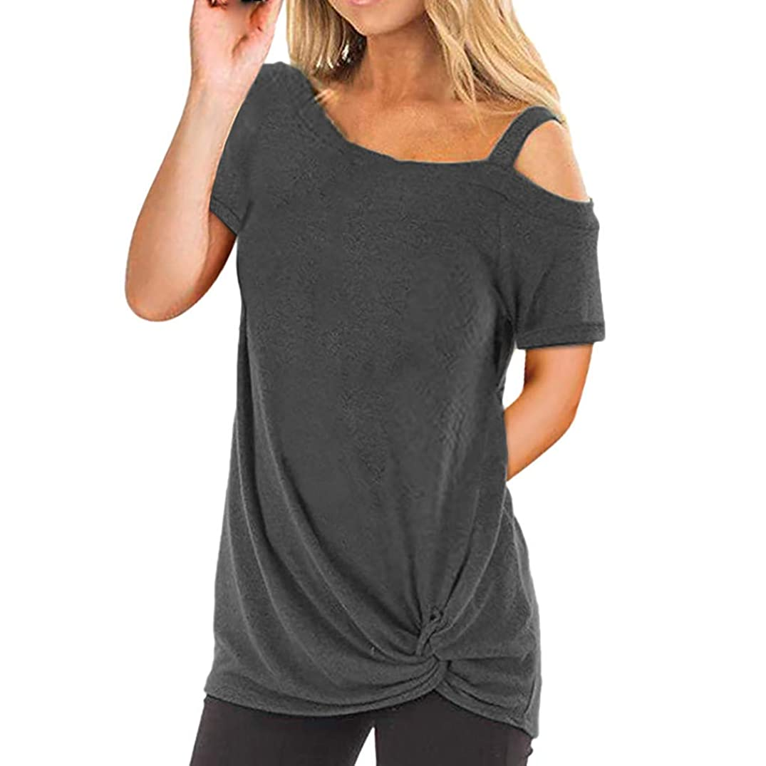 Sumen Women Casual T Shirt Summer Off Shoulder Short Sleeve Fashion Top
