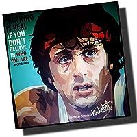 ロッキー・バルボア シルベスター・スタローン 海外グラフィックアートパネル 木製 ポスター インテリアに