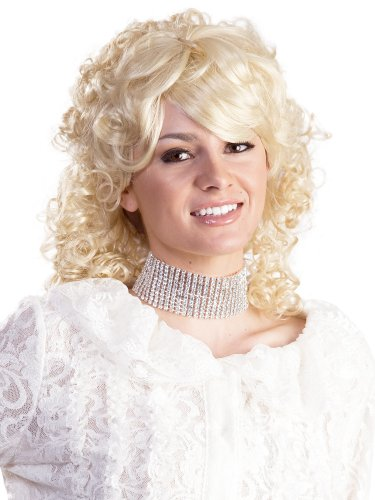 Dolly Parton Country Singer Women's 1980s Enigma Costume Wig - Blonde, One Size