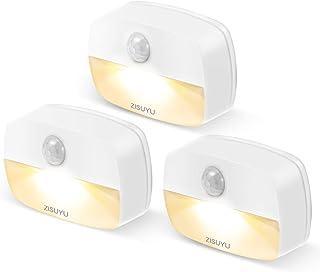 ZISUYU Motion Sensor Light Indoor Led Night Light Stick on Nightlight Battery Operated Lights for Toilet Closet Bathroom B...