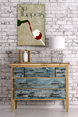 St234tyet Sip Happens Sentiment, Wine Bottle verter y cristal, impresiones artísticas para colgar en la pared, placa decorativa de madera, placa de madera para casa de campo, regalo de cumpleaños familiar o decoración de pared del hogar