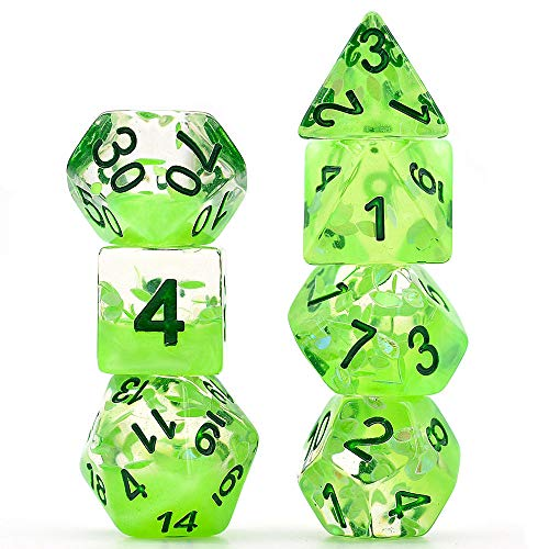 Polyhedral Dice Sets DND Four Seasons Dice for Dungeons and Dragons(D&D) Role Playing Game(RPG) MTG Pathfinder Table Game Dice (Spring Dice)