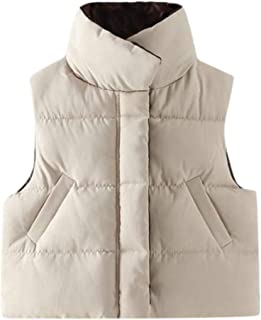 Macondoo Boys and Girls Quilted Winter Warm Stand Collar Puffer Vest Down Vest