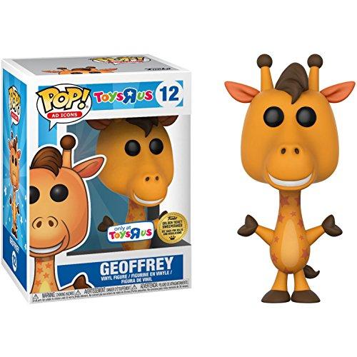 Funko Geoffrey [Golden Ticket] (Toys R Us Exclusive) Figura de vinilo de iconos de publicidad + 1 paquete de cartas de comercio temáticas de dibujos animados americanos (24732)