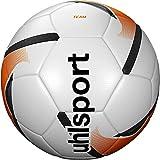 uhlsport Team Footballs, Juventud Unisex, White/Fluo Orange/Black, 5