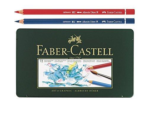 Faber Castell Albrecht Dürer Watercolor Color Colored Artists Pencils Metal Tin Set of 72