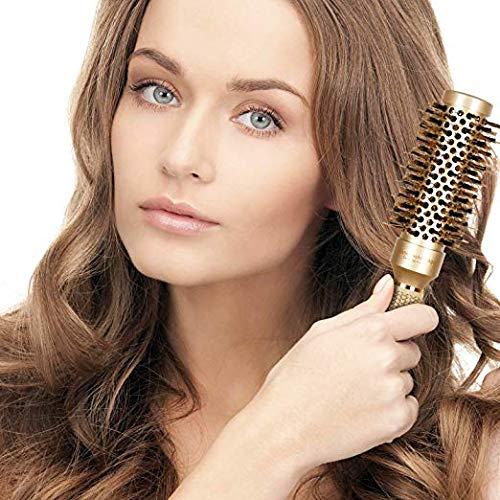 Roller Hairbrush for Blow Drying Round Barrel Salon Shape Brush Ionic Round Barrel Hair Brush Natural Pig Hair Anti-static Brush For Hair Drying Model