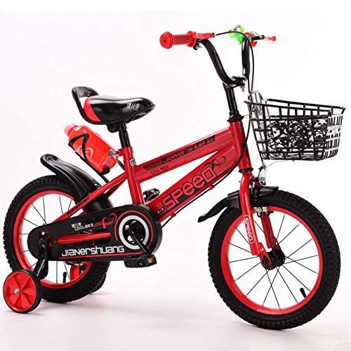 GTD-RISE Bicicleta niño Bicicleta Infantil Niños niños niño for Bicicleta, Bicicletas niños Unisex del niño Bike Training En Tamaño 12' 14' 16' 18' for 2-11 Años de Edad (Color : Red, Size : 18 Inch)