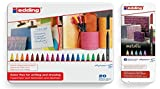 edding 4-1200-6 Fasermaler 1200 Color Pen, 1 - 3 mm, 6-er Set, sortiert, metallic (Fasermaler | Metalletui, 20-er Set | normal + 6er metallic)