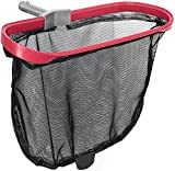 Marvellous 19.5 Inch Swimming Pool Leaf Skimmer, Aluminum Frame Leaf Rake Heavy Duty Pool Net Pool Skimmer Leaf Scoops for Cleaning Swimming Pools, Ponds, Hot Tubs, Spas, Fountain (Red)