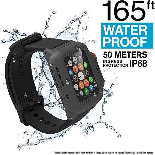 Catalyst Unterwassergehäuse für Apple Watch Series 1, 42 mm, 165 Fuß wasserdicht, 6,6 Fuß Fallschutz. Stoßfestes, rotierendes Zifferblatt aus Crwon, hochwertiges, Silikonband Rescue Ranger