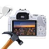 Lusee 3 Pezzi Vetro Temperato per Canon EOS 200D Pellicola Protettiva [Durezza a 9H] [Chiaro HD] Anti Graffio/Anti Impronta 2.5D per Schermo