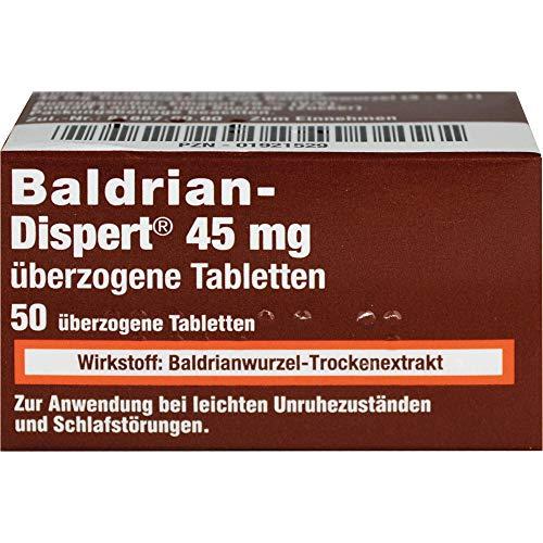 Baldrian-Dispert 45 mg überzogene Tabletten, 50 St. Tabletten