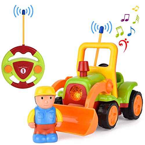 Fernbedienung RC Auto Spielzeug, mit Musik Licht und Sound, Geschenk für 1-6 Jahre alte Kinder