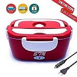 STN Boîte Chauffante 12V 24V 220V 3 in 1 Chauffage électrique de Voiture Lunch Box...