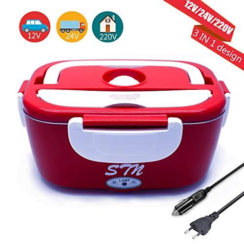 STN 12V 24V 220V Fiambrera Electrica 3 in 1 para Coche/Camión y...