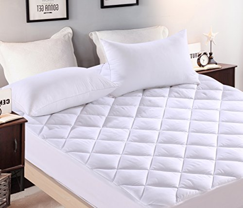 Premium Plus Mattress Pad, Hypoallergenic, Quilted Topper, Deep Pocket, Stretch to Fit, Washable, Fill 15 oz per sq yd, Microfiber, Polyester, Sleeper Sofa Pad Twin size 35 by 72 inches, 12 inch Depth