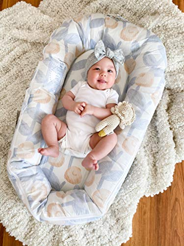 Image of CuddleNest Mini by LoLueMade: Baby Lounger, Infant Lounger, Newborn Lounger, Baby Nest - for 0-8 Months (Flora)