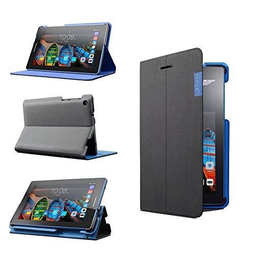 Lenovo Tab3 7 (ZG38C00959) Folio Case & Film Designed for Lenovo TAB3 7 Tablet, with Comfortable Stand, Crash Proof, High Quality Material - Black