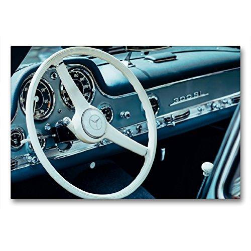 CALVENDO Premium Textil-Leinwand 90 x 60 cm Quer-Format Mercedes Benz 300 SL Flügeltürer, 1955, 2996 CCM, 215 PS, 250 km/h, Leinwanddruck von Dieter Meyer