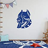 ASFGA Tribal Silueta de Perro Lindo Arte Animal Pared hogar Dormitorio y habitación de Hotel decoración extraíble habitación Infantil Regalo Coche Pegatinas 57x68cm
