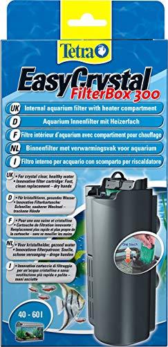 Tetra EasyCrystal FilterBox 300 Filtro Interno per Acquari con Scomparto per Il Termo Riscaldatore, per Un'Acqua Cristallina e Salubre, Utilizzabile in Acquari da 40 a 60 L