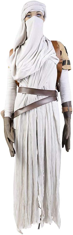 Star Wars VII  The Force Awakens Rey Cosplay Kostüm Karneval Kostüm Für Erwachsene Damen Wei L