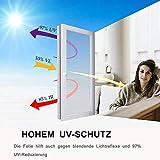 Fitlife Sonnenschutz Fensterfolie Selbsthaftend für Sonnenschutz Fenster Außen und Innen, Sonnenschutzfolie für Schlafzimmer UV-Schutz 90 x 400cm - 6