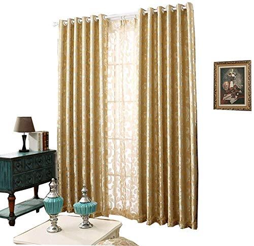RR & LL gordijnen gordijnen in Europese stijl verdikte dubbelzijdige jacquard-schaduwdoek slaapkamer vloergordijnen woonkamer herker raam gordijnen (grootte: breedte 300 hoogte 270 cm)