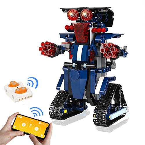 BBdis STEM Building Blocks Robot for Kids, Remote Control & APP Control Robots Programmable Voice Control Learning Education Toys Science Building Blocks Kits for Kids STEM Projects for Kids Ages 8-12