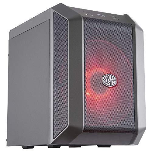Cooler Master Case H100 Mini-ITX PC case with a 200mm RGB Fan, Fine Mesh Front Panel, Built-in Handle