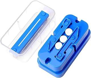 HEALLILY Pill Cutter Box Tablet Splitter Plastic Medication Divider Chopper Breaker Crusher Travel Pill Box Container for ...