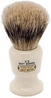 Simpsons Commodore X3 Best Badger Hair Shaving Brush Large - Imitation Ivory