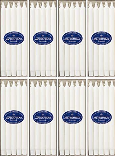 80 hochwertige dänische Stearin Tafelkerzen von ASP, 8 x 10 STK, 30 x 2,2 cm, Weiss, Sparpackung