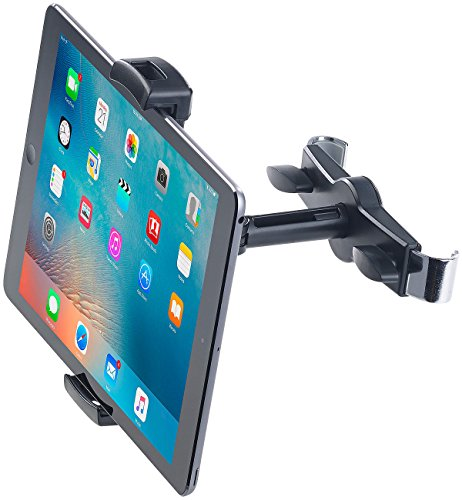 """Lescars Kopfstützenhalterung: Universal-360°-Kopfstützen-Halterung für Tablet-PCs & iPads bis 12,9\"""" (Tablet Halterung Auto Kopfstütze)"""