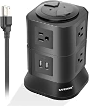 Power Strip with 7 Multiple Plug Outlets 2 USB Ports Tower Surge Protector Desktop Power USB Charging Station for Home & O...